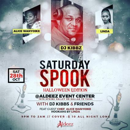 2NITE WE GETTING SPOOKY AT ALDEEZ \\ DJ KIBBS & FRIENDS IN THE MIXXX \\ POWERED BY RITCHY NYCE CREATION