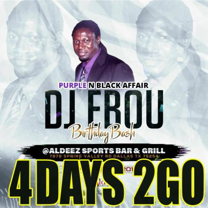 4 DAYS 2 GO || MORE FYAH 17th ANNIVERSARY & DJ EBOU'S BIG BIRTHDAY BASH || SATURDAY NOVEMBER 18th @Aldeez