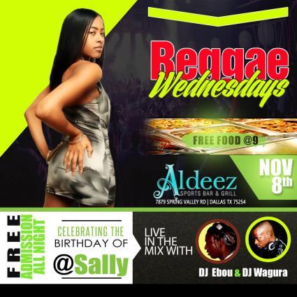 Reggae Wednesday @ Aldeez || FREE food @9pm || FREE admission all night || DJ Ebou & DJ Wagura in the mix