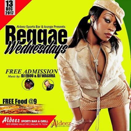 REGGAE NIGHT @ ALDEEZ TONIGHT \\ FREE FOOD @9 \\ FREE ADMISSION ALL NIGHT \\ DJ EBOU & DJ WAGURAIN THE MIX